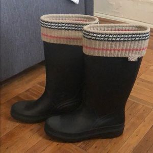 Rain boots with sock